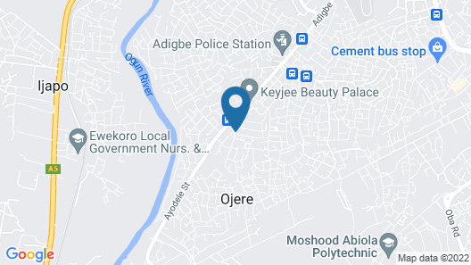 Jam-Bed Hotel and Suites Abeokuta Map