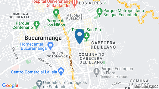 Hotel Dann Carlton Bucaramanga Map