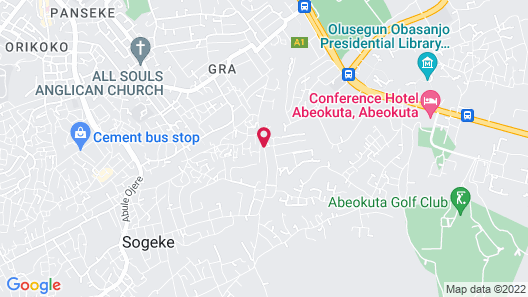Hallmark Suites - Abeokuta Map