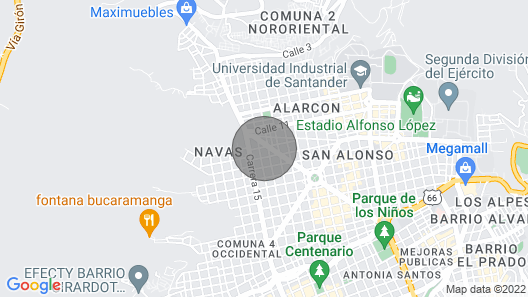 Cozy complete apartment in Bucaramanga Map