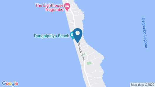 Boutique Health-focused Hotel on the Beach in Sri Lanka, Just North of Colombo Map
