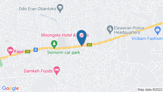 Moongate Hotel and Suites - Obantoko Map