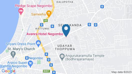 Avenra Garden Hotel Map