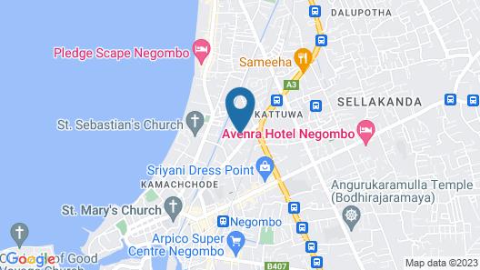 AMA VILLA NEGOMBO Map