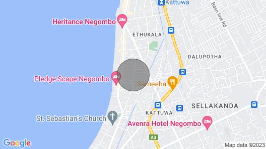 Maria Villa Negombo Suites Map