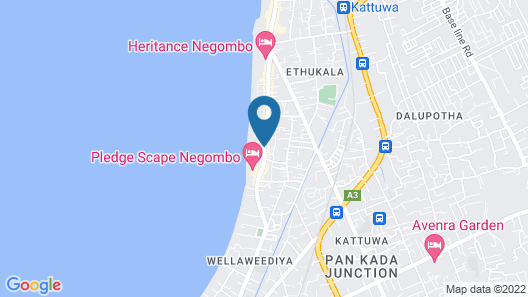 Marine Tourist Beach Guest House Negombo Beach Map