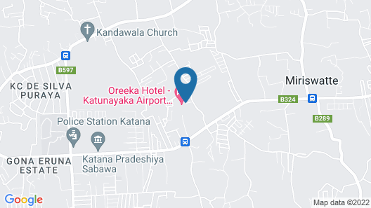 Oreeka Hotel – Complimentary Airport Transfer Map