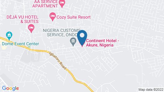 Continent Hotel - Akure Map