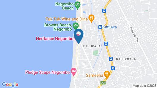 Hotel J Negombo Map
