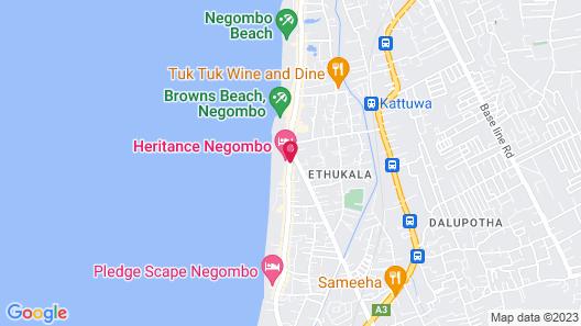 Heritance Negombo Map