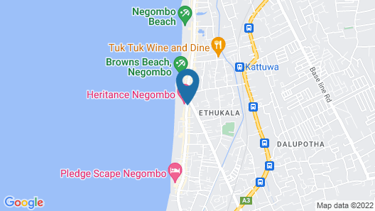 Heritance Negombo Map