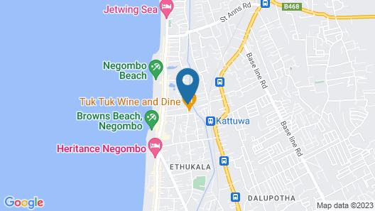 Negombo Blue Villa Hotel Map