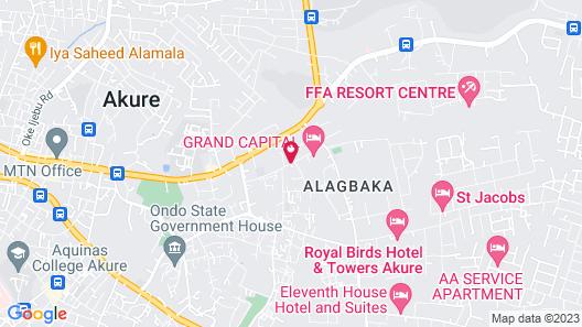 Grand Capital Hotel Map