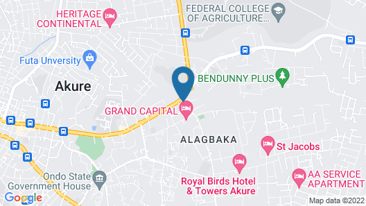 Sunview Hotel--akure Map