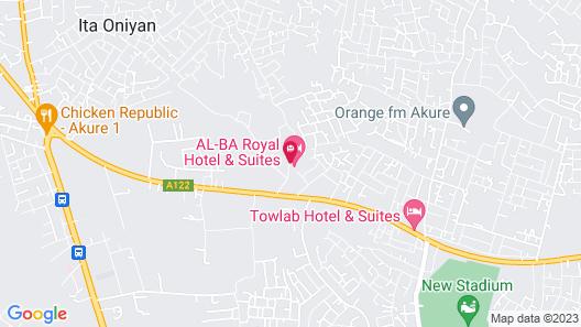 AL-BA Royal Hotel & Suites Map