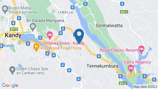 Range Hotel Kandy Map