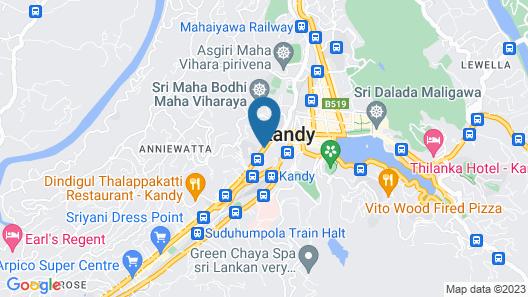 Sevana City Hotel Kandy Map