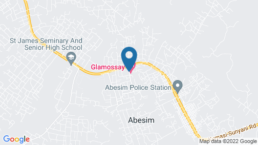 Glamossay Hotel Map