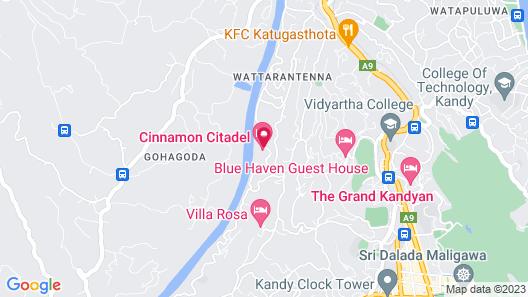 Cinnamon Citadel Kandy Map