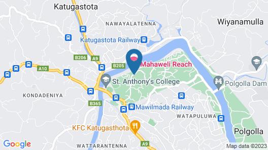 Mahaweli Reach Hotel Map