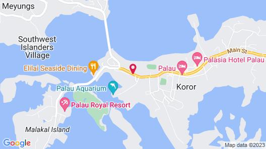 DW Motel Palau Map
