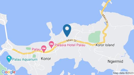 Palau Island Garden Hotel Map