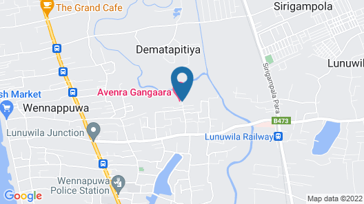 Avenra Gangaara Hotel Map