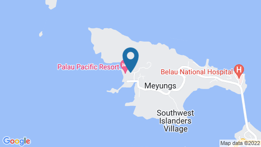 The Pristine Villas and Bungalows at Palau Pacific Resort Map