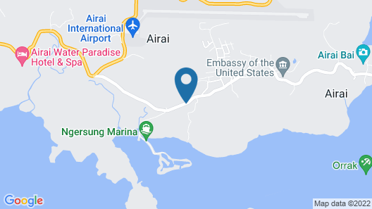 PAPAGO INTERNATIONAL RESORT PALAU Map