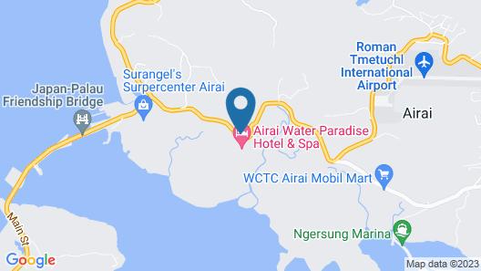 Airai Water Paradise Hotel & Spa Map