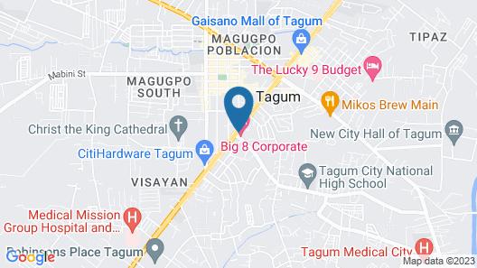 Big 8 Corporate Hotel Map