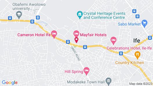 Xela Hotels and Resorts Map