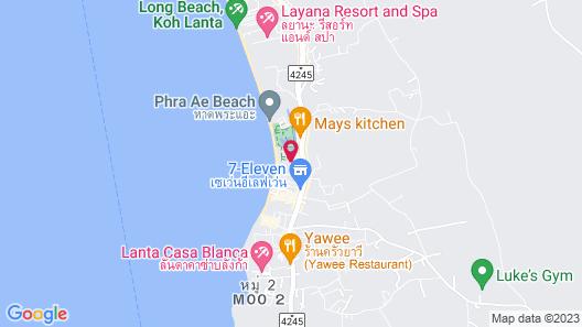 Lanta Long Beach Hostel Map