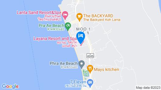 Layana Resort & Spa Map