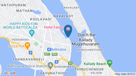 Hotel East Lagoon Map