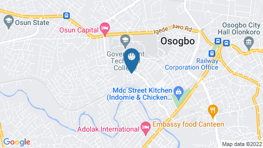 Prime Gold Hotel Osogbo Map