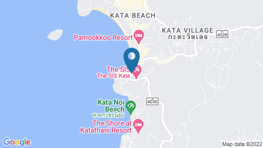 Chanalai Garden Resort, Kata Beach Map