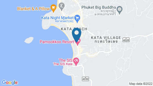 Chanalai Romantica Resort Kata Beach - Adult Only  Map