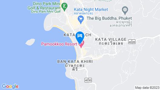 Chanalai Romantica Resort Kata Beach - Adult Only  Map