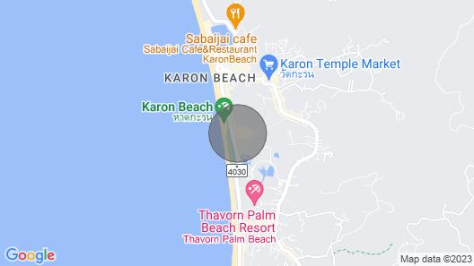 2 BDR Beachfront Suite Apartment Karon Map