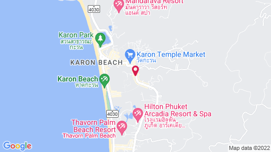 Sugar Marina Resort - ART - Karon Beach Map
