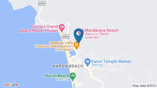 Chanalai Hillside Resort, Karon Beach Map
