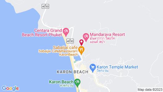 Mandarava Resort and Spa Karon Beach Map