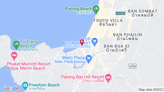 Patong Merlin Hotel Map