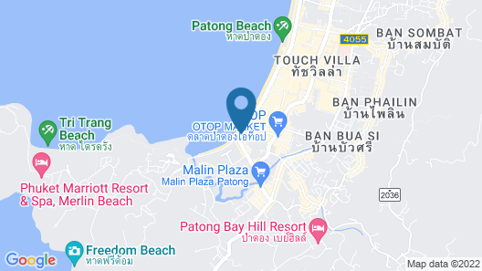 Patong Merlin Hotel Map