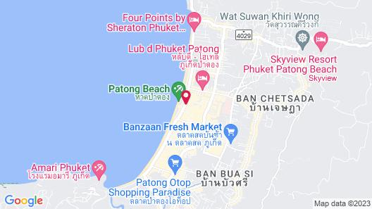 Hotel Clover Patong Phuket Map