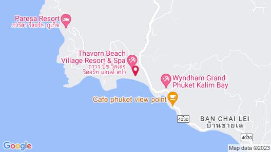 Thavorn Beach Village Resort & Spa Phuket Map