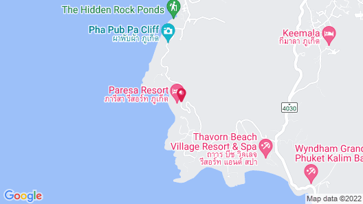 Paresa Resort Phuket Map