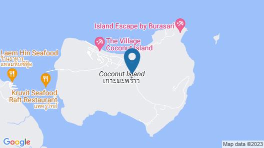 5 Luxury Beech Villa on Phuket's Only and Most Prestigious 5 Island Resort Map