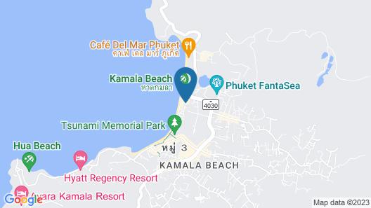 Kamala Beachfront Apartment Map